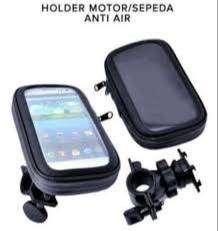 Holder/ Penyangga HP untuk sepeda motor/ sepeda - anti air 360 derajat