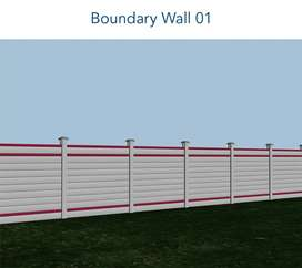 Boundary wall tup tailes and readymade roof works