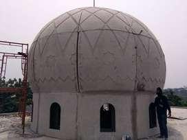 Pembuatan Proyek Kubah Masjid bahan GRC Kualitas Super Harga Murah