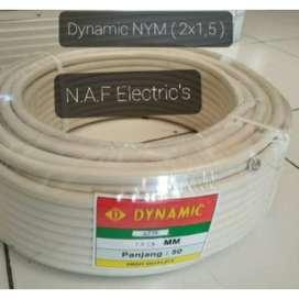 Kabel Listrik Nym Kawat 2x1 5 Merk Dynamic Panjang 50 Yard