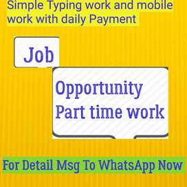 Get Paid daily For Simple English typing work or Smartphone work