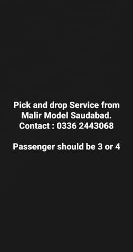 Cultus 2006 pick and drop service from malir