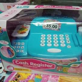 Mainan anak cash register baru gratis batre