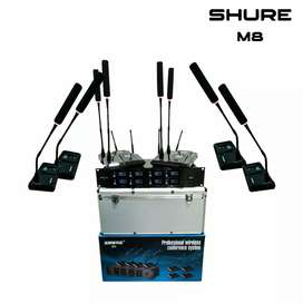 Mic wireless conference Shure m8 (8 mic)