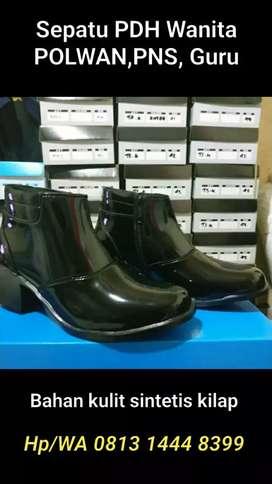 Sepatu PDH Wanita Polwan Guru PNS