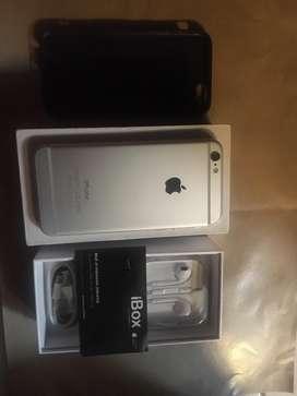 iphone 6 resmi ibox silver putih 64gb resmi  baru pa-a