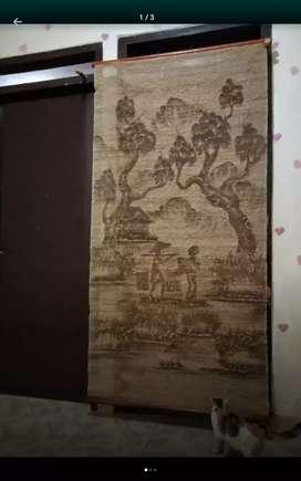 Lukisan dari serat kayu/akar