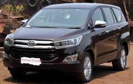 3480/Day Innova crysta For Self Drive Car Rental