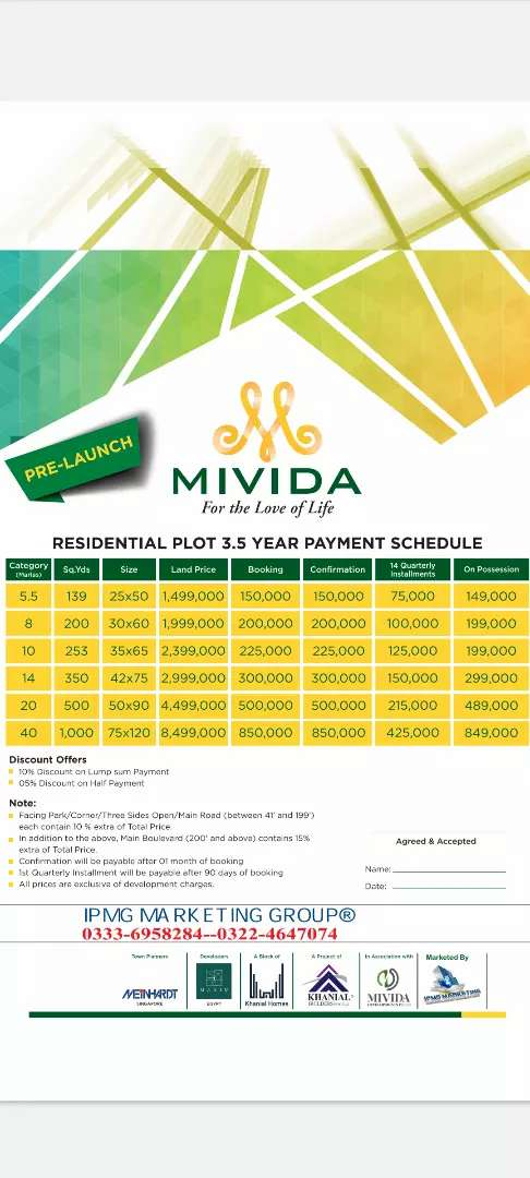 Booking 200000 Mivida city Islamabad Pakistan's First Eco sustainable 0