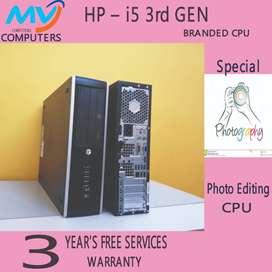 computers*Core i 5-3rd gen=4gb ram#cpu,500gb&hdd-3yrs warranty SERVIC^