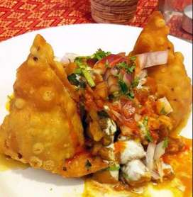Fast food samosa chat and fingerchips