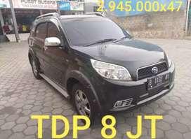Daihatsu terios TX elegant 1.5 AT 2007 tdp8jt 2.945x47 pjk pjng bekasi