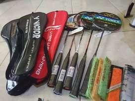 Denmark open 2019 badminton paket raket free senar, grip ,tas 1r