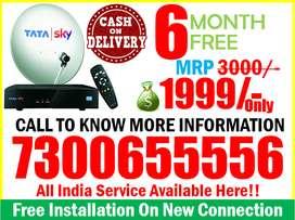 Dhamaka HD Tata Sky 6 Month Free Only Rs.2000/- Dish tatasky & Airtel