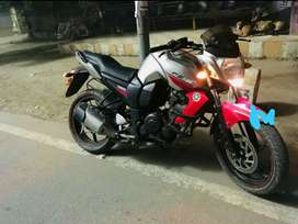 Yamaha FZ-S version 1, cherry red and silver colour