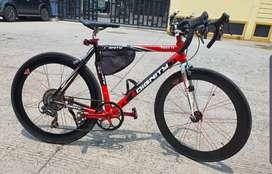 Sepeda fixy dignity rubah road bike