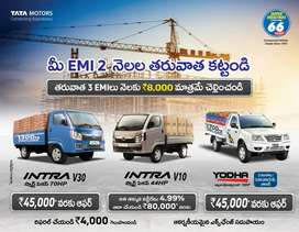 TATA ACE GOLD PETROL & DIESEL INTRA V10&V30 A/C NON A/C AVAILABLE