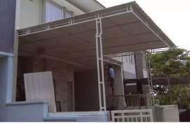 kanopi minimalis atap galvalum,alderon(upvc),poly carbonate pagar dll.