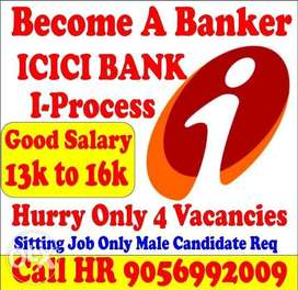 Bank Job only Male Candidates Required in Top Pvt Bank 9056992OO9