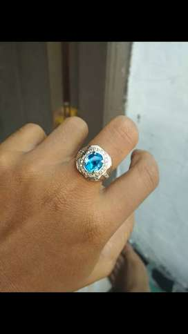 Cincin permata blue diamond