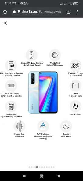 Realme 7, 10 days old, fixed price 14500
