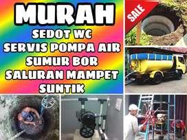 Sedot wc saluran mampet service servis pompa air suntik sumur bor gali