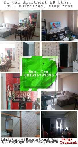 TURUN HARGA Dijual/disewa Apartemen Pancoran Riverside 2BR Unit besar