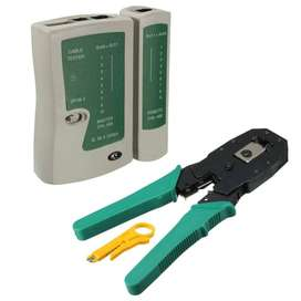 Professional Network Cable Tester Lan rj45 rj11 with Wire Cable cutter