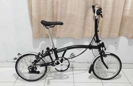 Sepeda Lipat BROMPTON M6L BLACK