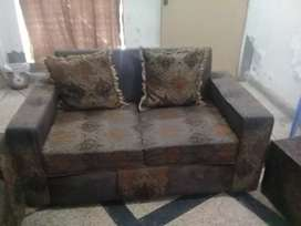Sofa Set Foam 3 2 1 Complete Set Brown Color