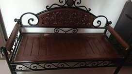 Wooden Garden sofa