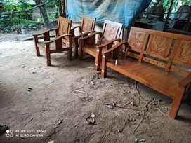 Kursi tamu satu set kayu mahoni