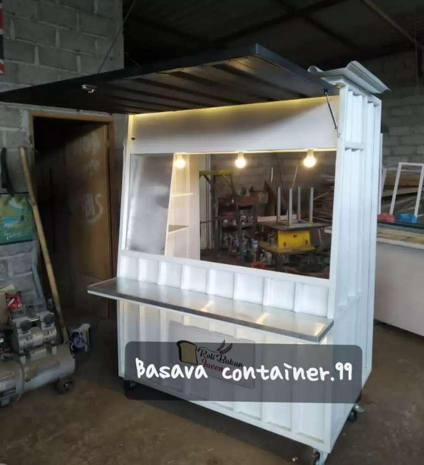 Booth semi container jasa pengerjaan modifikasi container custom , 0