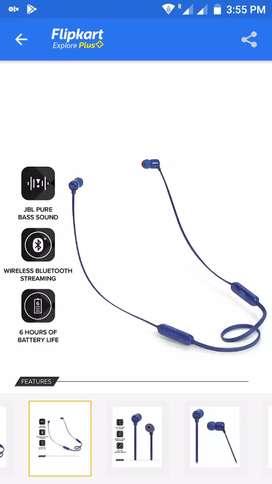 JBL Bluetooth earphones 110bt