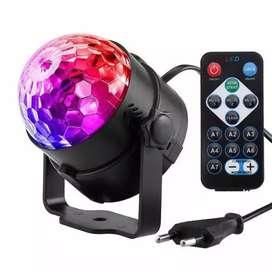 Lampu disko panggung led 3w sensor suara dengan remot kontrol