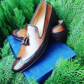 Snake Embossed Hand Made Farmal shoes