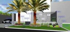 Terima jasa pembuatan taman rumah,kantor,proyek dll