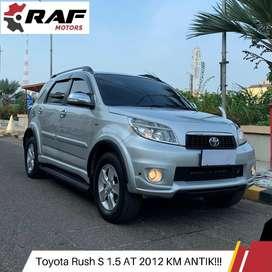 KM ANTIK!! Toyota Rush S 2012 AT Matic Silver TT Avanza Terios Livina
