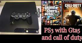 Ps3 for sale with gta5 and call of duty