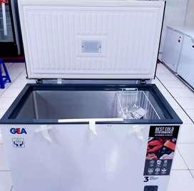 Freezer box, freezer daging, freezer gea ab-226r/ab-336r(barang baru)