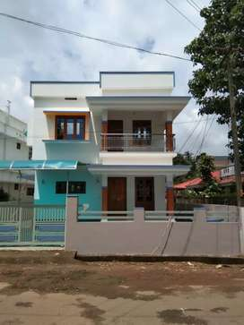 4 cent land with 1500 sqft new house at kanjoor,near airport,aluva