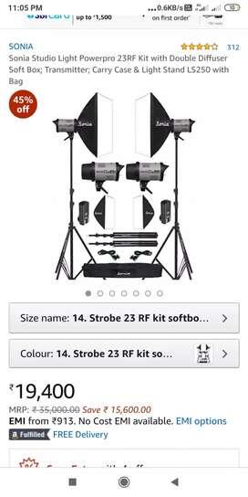 Studio 2light kit,stand,bag all 23pro