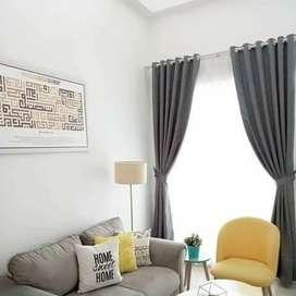 wallpaper gorden cutain kain kasa vertikal vitrase murah 77473
