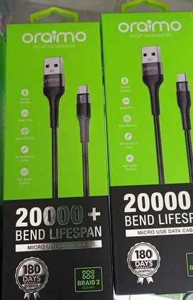 Kabel charger original oraimo kokoh fastcharging