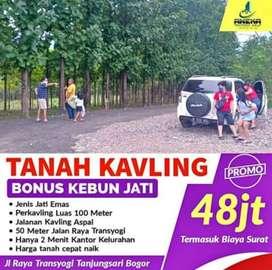 Dijual Tanah Kavling Murah di Bogor 100 Meter dibawah 50 Juta