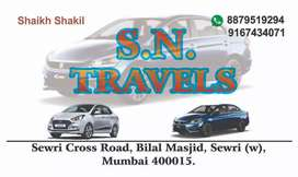 S. N. Travels car rental service all over Mumbai