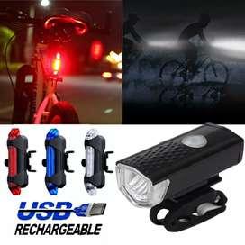 Lampu sepeda sepasang depan belakang