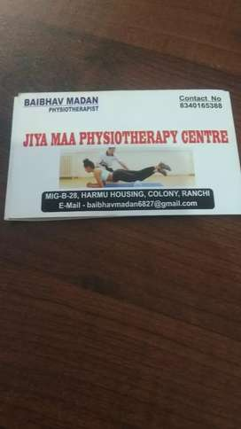 Consultant physiotherapist at home visit   300rs per day contact me