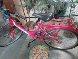 Hero Miss India Gold bicycle. Two years old. Excellent condition