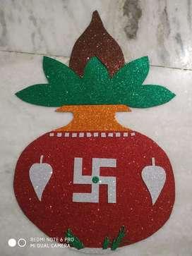 Pooja Room Glittering Kalash